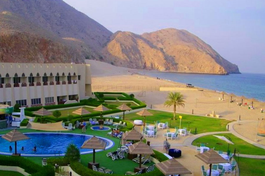 one night stay at golden tulip dibba full day musandam cruise for