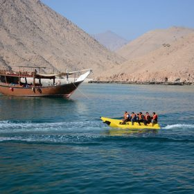 Musandam Day Trip Banana Boat Ride